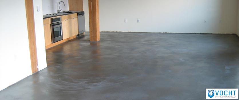 Betonvloer waterdicht maken vochtbestrijdingsmiddelen for Huis waterdicht maken